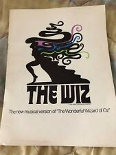 The Wiz Musical Tour Souvenir Program starring Deborah Malone (Copyright 1974)