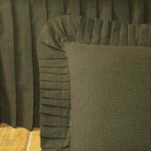 DONNA SHARP ~ WOODLAND PLAID BED SKIRT/ DUST RUFFLE OR EURO SHAM
