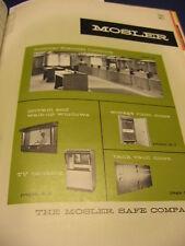 1965 Mosler Safe Co. Catalog Vintage Security Systems, Vaults
