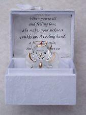 NURSE Teddy Bear Box@LOVE Verse@Glass Red Cross MEDICAL HOSPITAL THANK YOU Gift