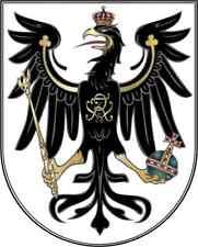 Aufkleber WAPPEN PREUSSEN ADLER deutsches Reich Sticker 8x6,4 cm Konturschnitt