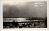 NEUHOF Seebad s/w Postkarte Gewitter am Gothensee AK alte Ansichtskarte