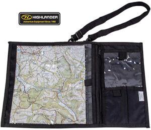 Hiking Camping Walking Map Shoulder Binder Holder Case Waterproof Bag Black New