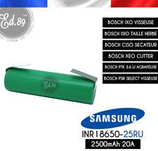 Batterie SAMSUNG INR18650-25R 2500mAh 3.6V pour BOSCH IXO ISIO CISO XEO PTK PSR