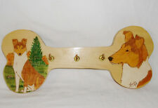 Collectible Smooth Collie Dog Handmade Keys/Collars/Leads Bone Shaped Plaque