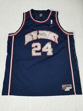 Vintage Nike Richard Jefferson New Jersey Nets #24 Blue Jersey Size XXL +2