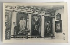 1959 AK Real Photo Postcard RPPC Sitka Alaska Russian Cathedral inside paintings