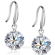 NEW Cristal Boucles D'oreilles Ciselé Antique Sterling 925 Argent Dangle Earring