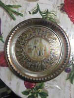 Vintage Or Older Brass And Copper Decorative Egyption Plate