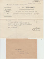 1930 letter + envelope ~ purchase of crystal set + pair of phones - A E Wilson