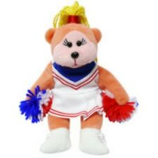 "SKANSEN BEANIE KID ""AMBER THE CHEER LEADER BEAR""  MINT WITH MINT TAG"