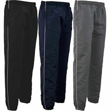 Mens Tracksuit Bottoms Joggers Jogging Single Striped Gym Sports Pants Trousers