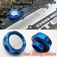 Mu-gen Style Billet Engine Oil Filler Cap Gen-1 (Blue) Fits Honda Acura