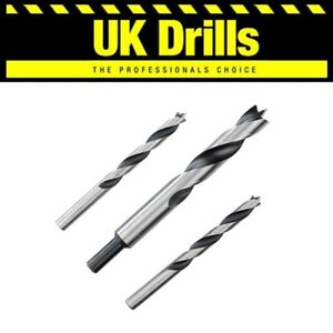 WOOD DRILLS - LIP & SPUR, FULLY GROUND, ALT. TO AUGER AND FLAT BITS,  3-20mm
