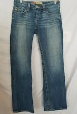 Big Star Remy Low Rise Jeans Size 27R Factory Distressed Bootcut