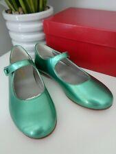 Bonpoint Girls Green Mary Jane Shoes size 27  UK 9.5 infant