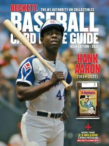 2021 ANNUAL BECKETT BASEBALL CARD PRICE GUIDE #43 HANK AARON CVR SHIPS IN A BOX