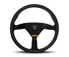 "MOMO Steering Wheel Mod 78 Black Suede 350mm + MOMO Suede Brush ""US Dealer"""