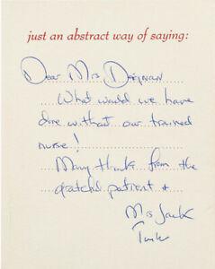 President John F. Kennedy JFK & Jacqueline Signed Greeting Card BAS & JSA