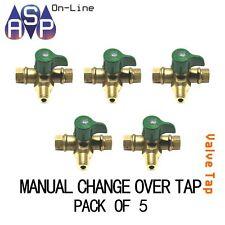 GAS LPG REGULATOR - MANUAL CHANGEOVER VALVE/TAP 2 STAGE PACK OF 5