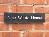 "Premium Quality Slate House Sign 16"" X 4"" Any Name / Number (400x100mm)"