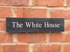 """Premium Quality Slate House Sign 16"""" X 4"""" Any Name / Number (400x100mm)"""
