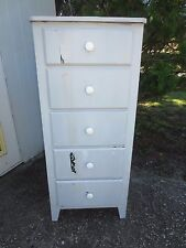 Lingerie Chest of Drawers French Country Cottage Coastal Shabby Chic TLC Grey