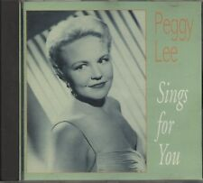 Peggy Lee - Sings For You (CD Album)