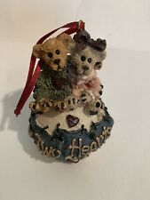 Boyds Bears Christmas Ornament Two Hearts George & Gracie Forever