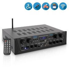 500W 4ch BLUETOOTH AUDIO POWER AMP AMPLIFIER STEREO HOME THEATER RECEIVER SYSTEM
