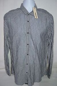 DIESEL Man's SISALIKO Casual Sheer Premium Shirt  NEW  Size Large  Retail $148