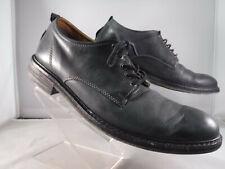 Pm3 Lucky Brand Hogan Black Leather Dress Shoes Oxfords Lace-Up Plain Toe Sz 11