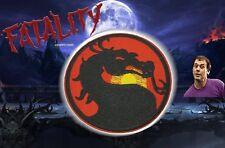 "Mortal Kombat MK Dragon Game Vintage Retro Style Iron on Patch Applique 3.5"""