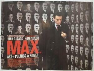 MAX (2003) Original Cinema Quad Movie Poster - John Cusack, Noah Taylor