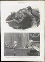 1889 Antique Print - LONDON ROYAL COURTS JUSTICE ADMIRALTY COURT SKETCHES (273)