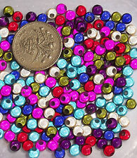 300 x 5mm Multi-Coloured Acrylic Round Illusion Miracle Beads Jewellery Making