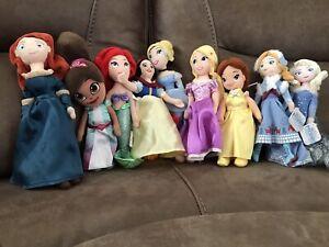 9 Miniture Princess Stuffed Animal Dolls