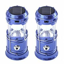 5800-T Rechargeable Solar Camping Lantern (Blue) Set of 2
