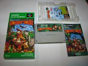 Super Donkey Kong 1 Country Super Famicom SFC Japan import Boxed CIB US Seller