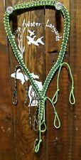 Duck / Goose / Predator Call Paracord Lanyard neon green & camo Hand Made