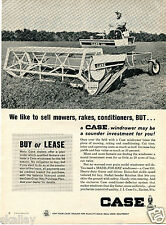 1964 Print Ad of Case 950 Farm Tractor Made-For-Hay Windrower