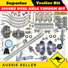 DIY 2000KG Dual Axle Tandem Trailer Kit -SLIPPER SPRINGS DISK. BRAKES MARINE 2-2