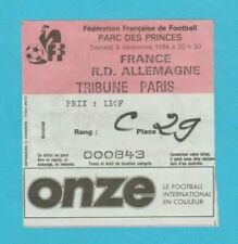 Orig. Ticket World Cup Qualification 08.12.1984 France-GDR!!! EXTREMELY RARE