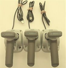 Code CR2600 Handheld Palm Reader Barcode Scanner with Stand (Lot of 3)