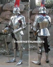 Medieval Gothic Suit Of Armor Full German Body Armour Costume