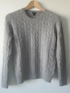 J Crew Crewcuts 100% cashmere cable knit  jumper light grey  10 years
