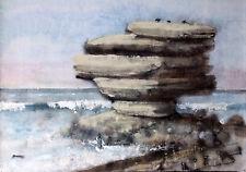 William Benecke - Stacked Rocks - Original Ocean Scape - Oil on Canvas