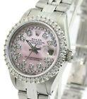 Rolex Womens Datejust 26mm Pink MOP Diamond Dial Diamond Bezel  Approx 1.40CTW