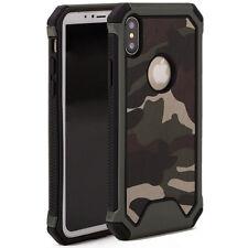 """Custodia cover mimetica MILITARE camouflage per iPhone X 5.8"""" case doppio strato"""