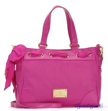 NWT JUICY COUTURE MALIBU NYLON MINI DAYDREAMER WHB151 $198 DRAGON FRUIT